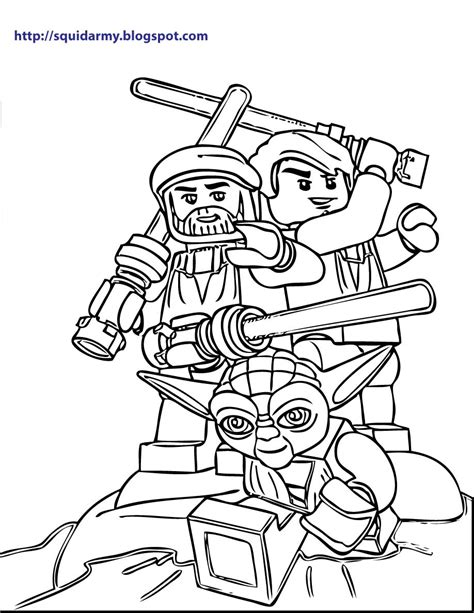 coloring pages wars lego lego wars coloring pages squid army