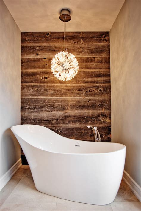 plank wall bathroom wood accent waaa contemporary bathroom madison