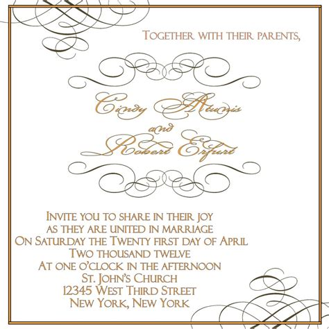wedding invitation etiquette address template best