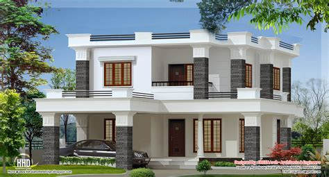 home design 2000 square feet in india 2000 sq feet 4 bedroom flat roof villa kerala home