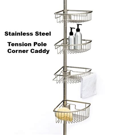 Bathroom Shower Caddy Rust Proof Rust Proof Stainless Steel Tension Shower Caddy Tension Stainless Steel Showers