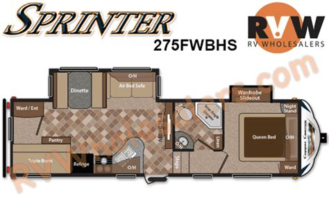sprinter 5th wheel floor plans 2013 keystone rv sprinter copper 275fwbhs fifth wheel the real rvwholesalers 531342