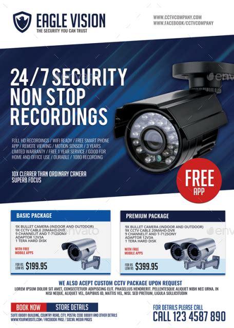 Cctv Surveillance Camera Shop Flyer By Artchery Graphicriver Cctv Flyer Template