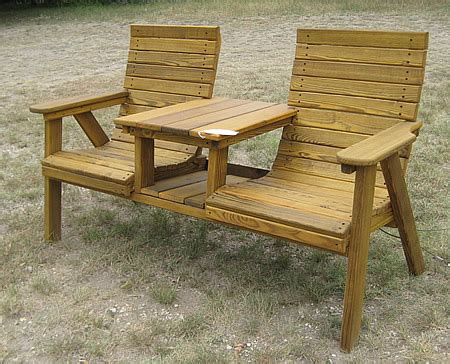 Lawn Chair With Table Attached - side by side deck chairs with attached table made by