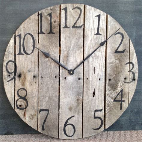 rustic clock large rustic pallet wood wall clock 100 00 via etsy i