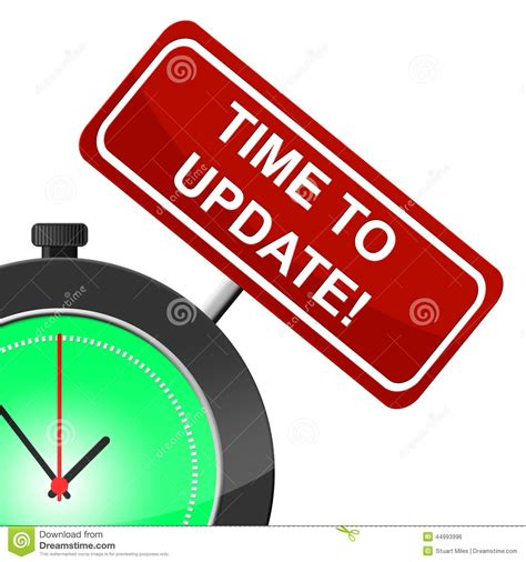 Time To Upgrade by Time To Update Means Modernize Improved And Reform Stock