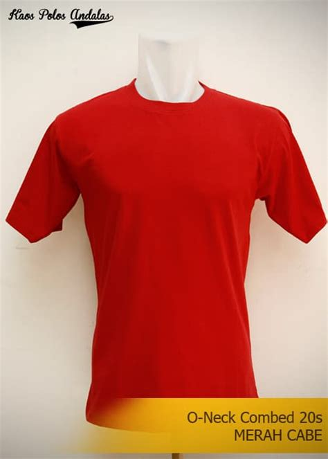 Kaos Ml jual kaos polos merah cabe cotton combed 20s size ml