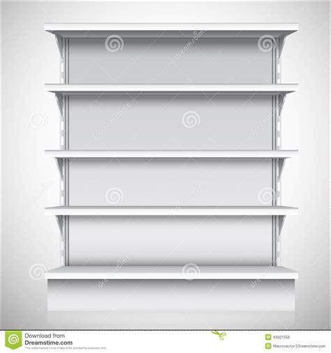 scaffali bianchi scaffali bianchi supermercato illustrazione vettoriale