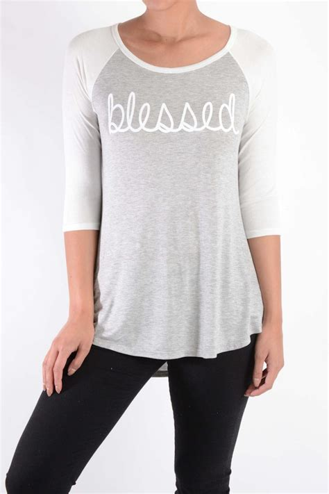 Blessed Baseball Top lovely souls clothing blessed baseball from colorado