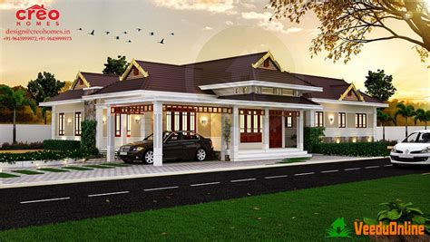 kerala home design february 2016 eye catching single storied kerala home designs