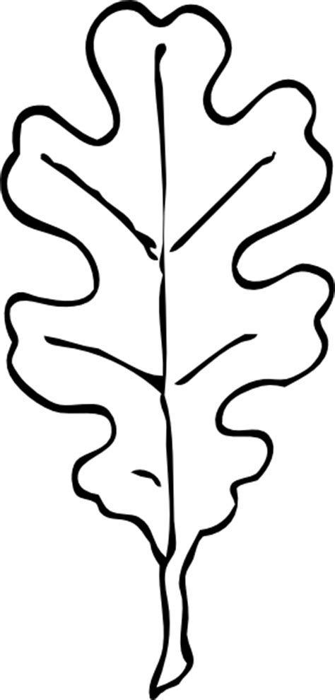 leaf pattern black and white clipart oak leaf outline clip art at clker com vector clip art
