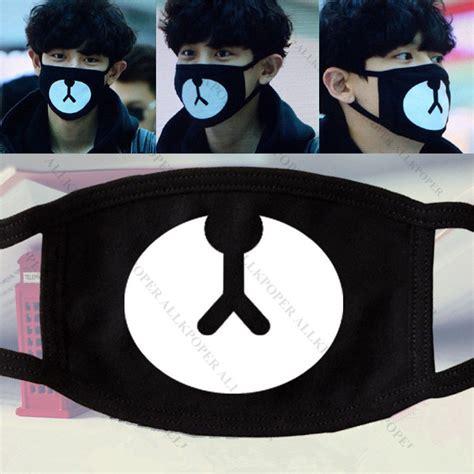 Masker Kpop Masker Rilakuma Chanyeol kpop exo chanyeol lucky mask chan yeol 2015 new arrival muffle ebay