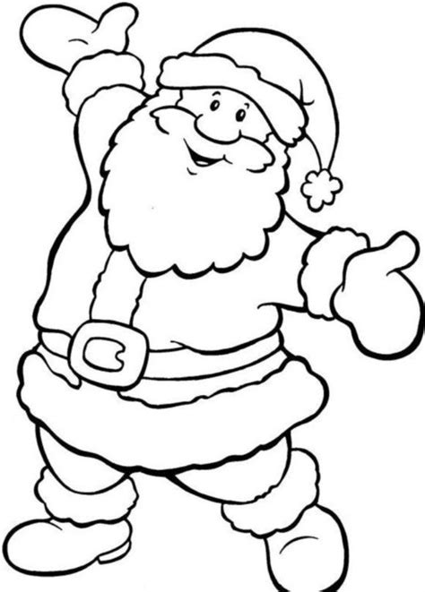 simple santa coloring page santa coloring pages printable santa claus coloring