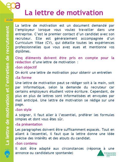 Présentation Lettre De Motivation Sur Deux Pages la lettre de motivation et l entretien de recrutement ppt t 233 l 233 charger