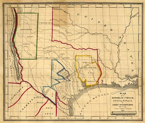 texas 1836 map republic of texas