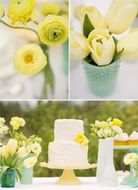 Lime And Yellow Decor by Wedding Blogs Lemon Lime Inspiration