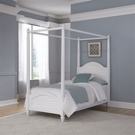 White Canopy Bed Bermuda Brushed White Canopy Bed Homestyles