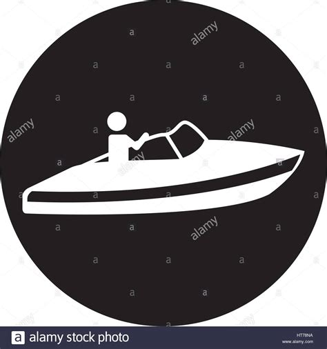 fast boat icon speed boat stock vector images alamy