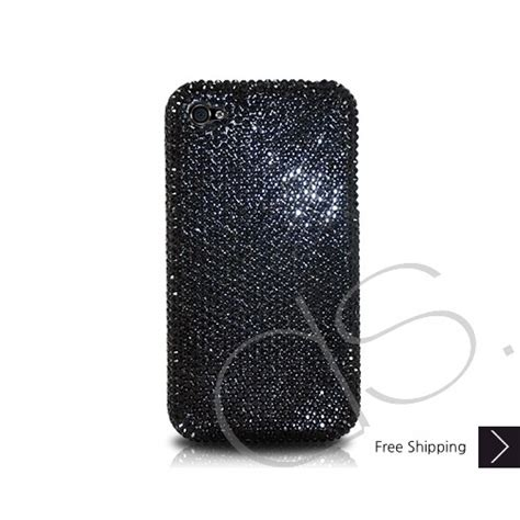 Casing Swarovsky classic swarovski iphone black bling iphone cases swarovski iphone cases