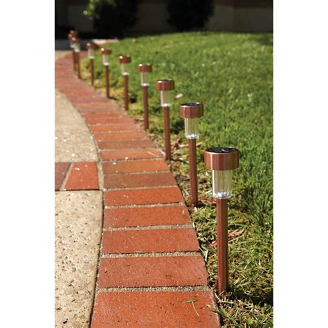 Solar Copper Led Path Lights 10 Piece Harbor Freight Solar Lights