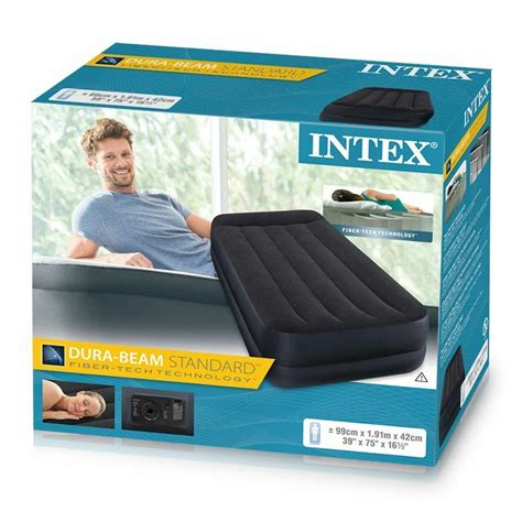 intex single size raised air bed mattress airbed electric 5055418300230 ebay