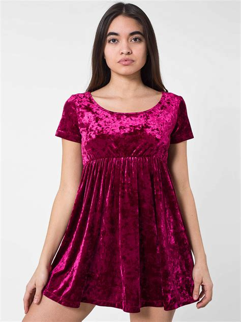 Dress Of The Day Brush Ribbed Babydoll by Stretch Velvet Babydoll Dress American Apparel
