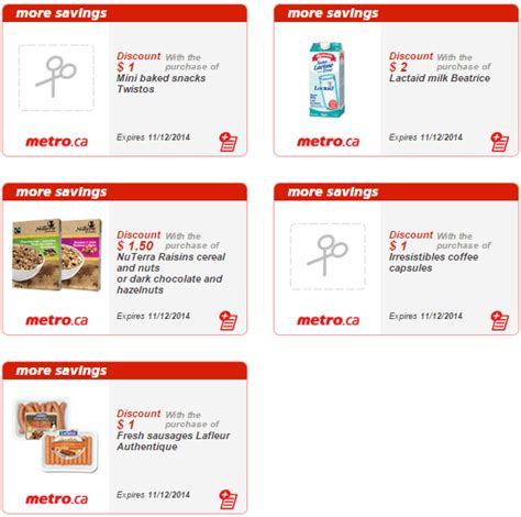 printable grocery coupons quebec metro quebec printable store coupons november 6 november