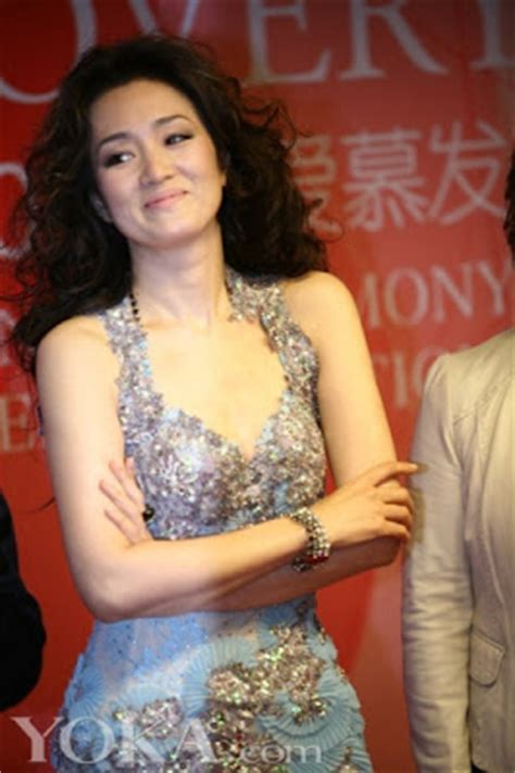 Gong Li Wardrobe Malfunction by Favorite Hong Kong Actresses Gong Li For Aimer