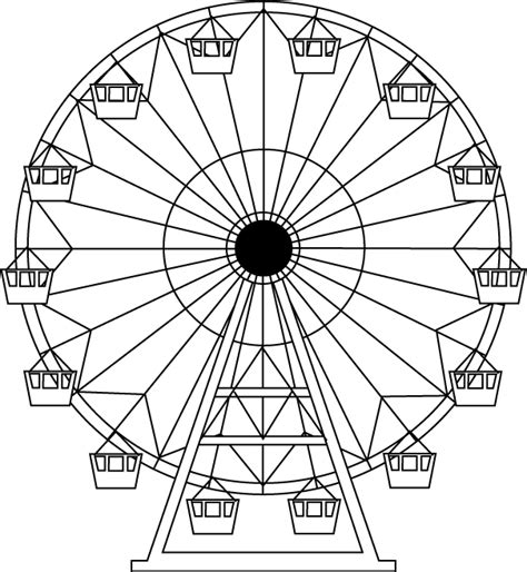 Free Colour Wheel Coloring Pages Wheels Coloring Pages