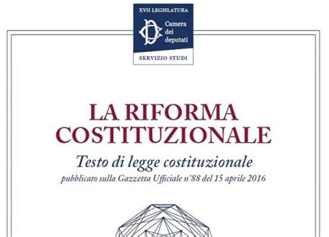testo a novembre testo completo della riforma costituzionale oggetto di