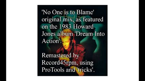 no one is to blame no one is to blame howard jones hq youtube