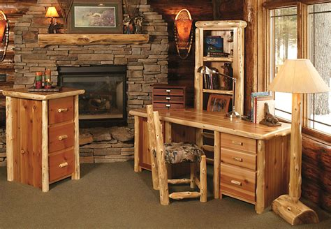 log computer desk timberland computer desk rustic furniture mall by timber