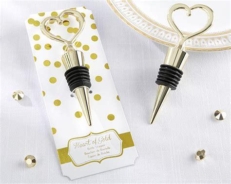 wine bottle stopper bridal shower favors gold bottle stopper