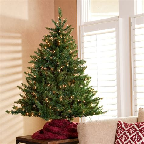 classic tabletop pre lit christmas tree 4 5 ft
