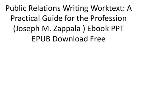 relations writing worktext a practical guide for