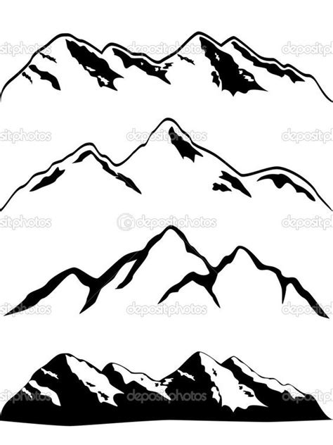 mountain outline tattoo my simple mountain range could be enhanced slightly