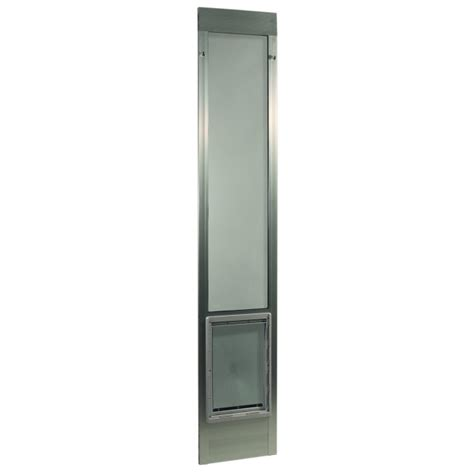 Fast Fit Patio Pet Door Ideal Pet Fast Fit Pet Patio Door Large Silver Frame 77 5 8 To 80 3 8 Inches