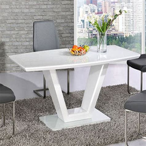 Grey Dining Room Set Canada Ventura V Shaped White Dining Table And 4 Grey Dining