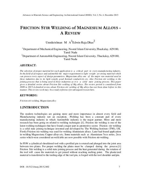 friction stir welding research paper friction stir welding research paper illustrationessays