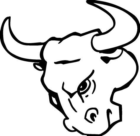 Chicago Bulls Logo Outline by Bull Logo Clipart Best