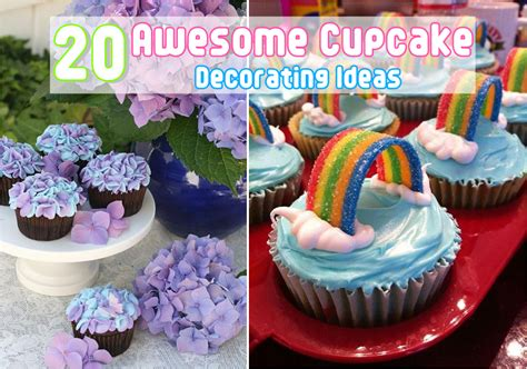 Decorating Ideas For Cupcakes 20 Awesome Cupcake Decorating Ideas Diy Craft Projects