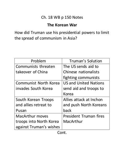 chapter 18 section 3 the cold war at home ch 18 wb p 147 156 note taking study guide notes