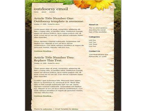 Creative Html Email Newsletter Templates For Web Designers Webgranth Creative Html Email Templates