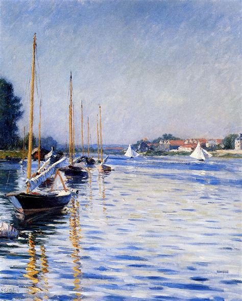 boats on the seine boats on the seine 1892 gustave caillebotte wikiart org