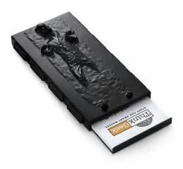 business card holder han in carbonite business card