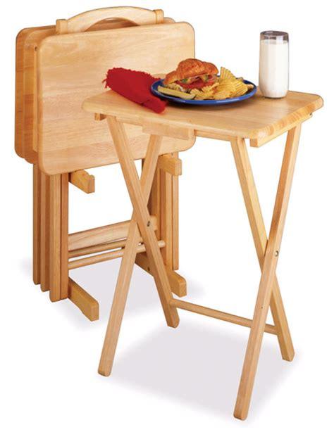 tv tray table set wood beechwood tray tables tv trays snack tables