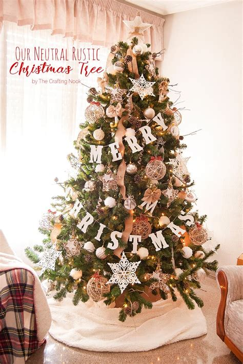 neutral rustic christmas tree the crafting nook by