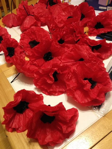 Make Paper Poppies - 65 best images about remembrance day on