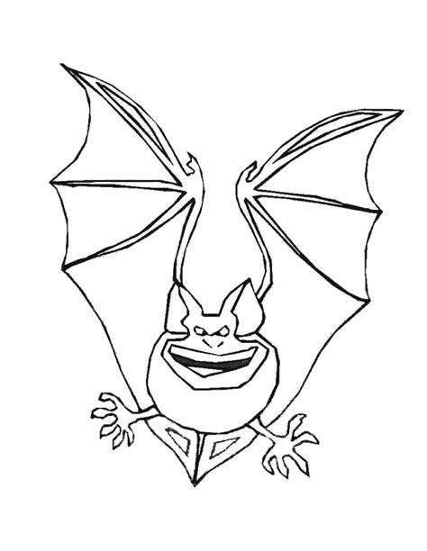 free coloring pages of kids bats