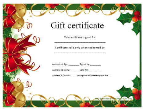 Best Photos of Christmas Gift Voucher Template   Christmas